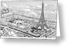 Paris Exposition, 1889 Greeting Card