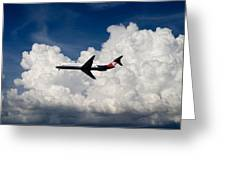 Passenger Jet And Clouds Greeting Card