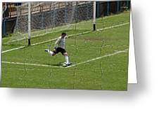 Photo Puzzle Of The Goalkeeper  Greeting Card
