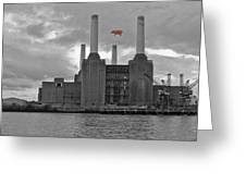 Pink Floyd Pig At Battersea Greeting Card