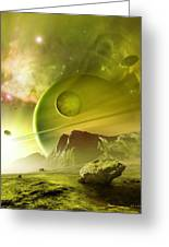 Planets In The Orion Nebula Greeting Card