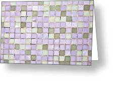 Purple Tiles Greeting Card