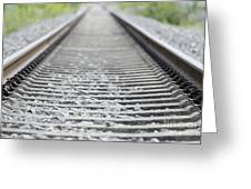 Railroad Tracks Greeting Card