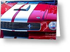 Red 1966 Ford Mustang Shelby Greeting Card