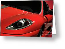 Red Ferrari F430 Scuderia Greeting Card