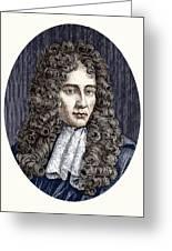 Robert Boyle, Irish Chemist Greeting Card