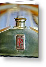 Rolls-royce Hood Ornament Greeting Card
