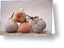Rotten Pears And Apple. Greeting Card by Bernard Jaubert