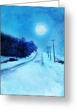 Rural Road In Winter Greeting Card