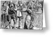 Salem Witch Trial, 1692 Greeting Card