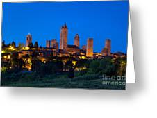 San Gimignano Greeting Card