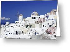 Scene In Santorini Island Greece Greeting Card