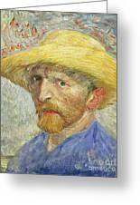 Self Portrait Greeting Card by Vincent van Gogh