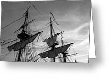 Setting Sails On A Tall Ship Greeting Card