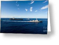 Ships From The John C. Stennis Carrier Greeting Card