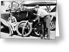 Silent Film: Automobiles Greeting Card by Granger