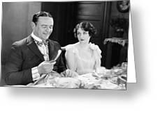 Silent Film: Restaurants Greeting Card