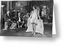 Silent Film Still: Fashion Greeting Card
