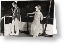 Silent Film Still: Ships Greeting Card
