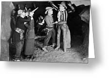 Silent Film Still: Western Greeting Card