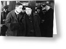 Silent Still: Group Of Men Greeting Card