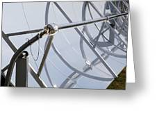 Solar Parabolic Mirrors, Cologne, Germany Greeting Card