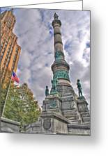Soldiers And Sailors Monument In Lafayette Square Greeting Card