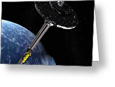 Space Elevator, Artwork Greeting Card