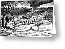 Spirit Lake Massacre, 1857 Greeting Card