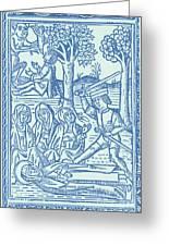 St. Catherine, Italian Philosopher Greeting Card