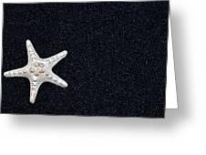 Starfish On Black Sand Greeting Card by Joana Kruse