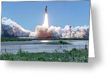 Sts-121 Launch Greeting Card