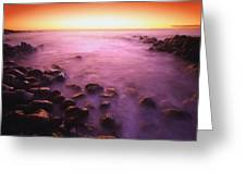 Sunset Over Water, Hawaii, Usa Greeting Card