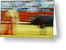 Tauromaquia Bull-fights In Spain Greeting Card