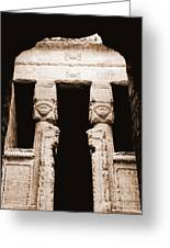 Temple Of Hathor Greeting Card