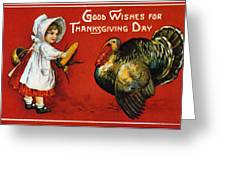 Thanksgiving Card, 1900 Greeting Card