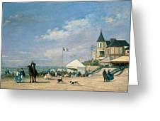 The Beach At Trouville Greeting Card