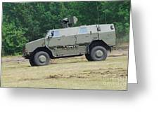 The Dingo 2 In Use By The Belgian Army Greeting Card