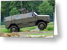 The Dingo 2 Mppv Of The Belgian Army Greeting Card
