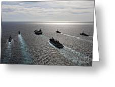 The Enterprise Carrier Strike Group Greeting Card