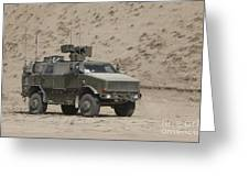The German Army Atf Dingo Armored Greeting Card
