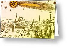 The Great Comet Of 1556 Greeting Card by Science Source