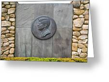 The John F. Kennedy Memorial At Veterans Memorial Park In Hyanni Greeting Card