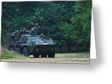 The Pandur Recce Vehicle In Use Greeting Card
