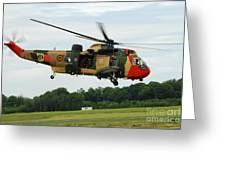 The Sea King Helicopter Of The Belgian Greeting Card