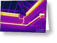 Thermogram Of Steam Pipes Greeting Card