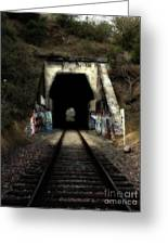 Train Tunnel At The Muir Trestle In Martinez California . 7d10220 Greeting Card