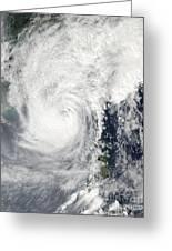Typhoon Megi Greeting Card