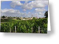 Village And Vineyard Of Saint-emilion. Gironde. France Greeting Card