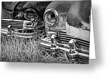 Vintage Frazer Auto Wreck Front Ends  Greeting Card